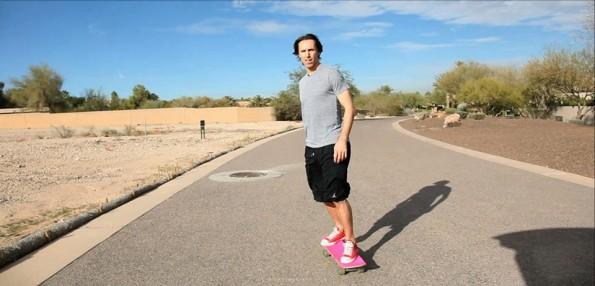 NAsh on skateboard