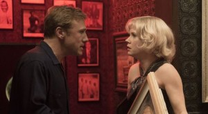 Walter (Christoph Waltz) and Margaret, mid-argument at a San Francisco nightclub