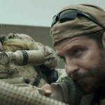 "Bradley Cooper (in foreground) as Chris Kyle, in ""American Sniper"""