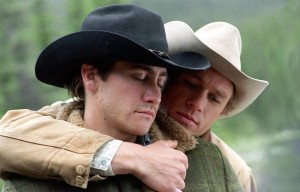 "Jake Gyllenhaal and Heath Ledger, in ""Brokeback Mountain"""