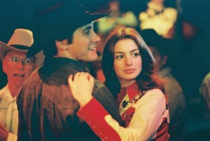 "Jake Gyllenhaal and Anne Hathaway, together in ""Brokeback Mountain"""