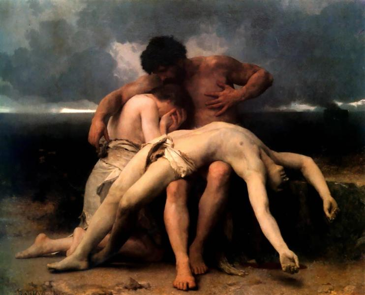 """The First Mourning"" by William-Adolphe Bouguereau"