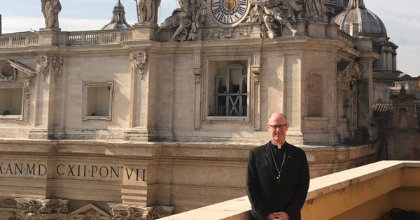 Bishop Conley in Rome from twitter.com/bishop_conley