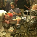 Bergoglio washing feet