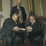 NPG 3654,Conversation piece,by Sir James Gunn