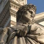 estatua-a-dante-alighieri-junto-a-iglesia-de-santa-croce