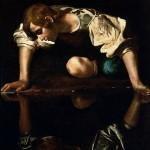 640px-Narcissus-Caravaggio_(1594-96)_edited