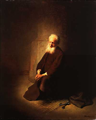 Rembrandt_st._peter_in_prision