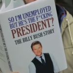Man Goes Viral After Reading Fake Books on Subway That Make Fun of Trump