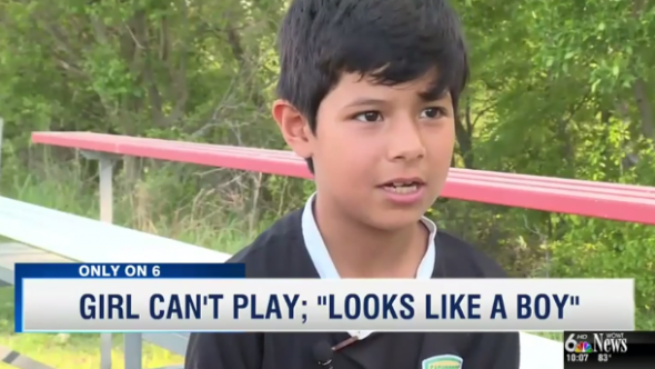 Girl banned from soccer game because she looks like a boy