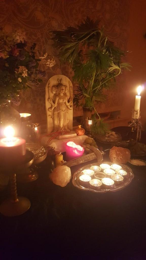 Shrine at the Sanctuary of Soteira, Glastonbury.