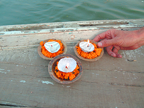 Offering Flames to Ganga Ma, Ganges, Varanassi, India