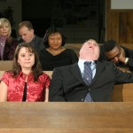 Asleep in church