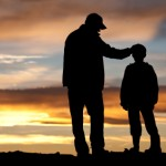Dad and Son sunset