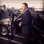 Mark Driscoll in a hearse