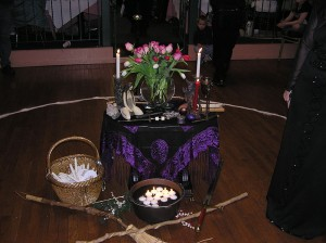 The Imbolc Ritual Altar by Rebecca Radcliff, CC license 2.0