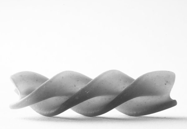 Fusilli pasta lying down by Roger Karlsson. Image via http://www.free-photo-gallery.org/