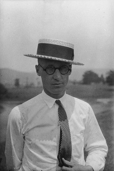 John Thomas Scopes photographed by Watson Davis. Public domain.