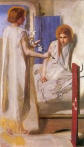 Dante Gabriel Rossetti - Ecce Ancilla Domini! Image via Wikimedia. Public domain.