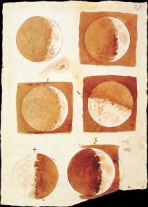 Galileo moon phases. Image via Wikimedia Commons. Public domain.