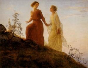 Anne-François-Louis Janmot (1814–1892), Poème de l'âme - Sur la Montagne (On The Mountain)