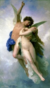 Psyche et L'Amour by  William-Adolphe Bouguereau. Image via Wikimedia Commons. Public domain.