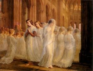Anne François Louis Janmot (1814–1892), Poème de l'âme - Première Communion (First Communion). Public domain image.