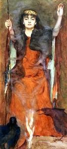 Henry Meynell Rheam (1859–1920), The Sorceress. Image via Wikimedia Commons. Public domain.