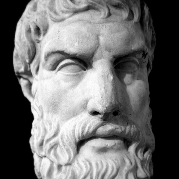 Epicurus_bust2 by Chris O. Image via Wikipedia. Public domain.