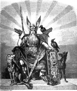 Odin, the All-Father of Nordic gods by Carl Emil Doepler. Image via Wikimedia Commons. Public domain.