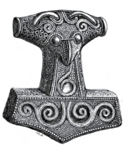 Thor's hammer, Skåne. Image by George Stevens via Wikimedia Commons. Public domain.