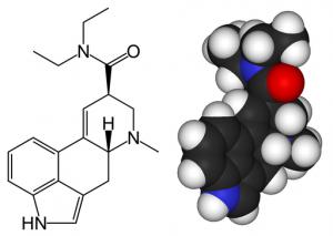 A 3D Model of LSD via Wikimedia Commons, public domain.