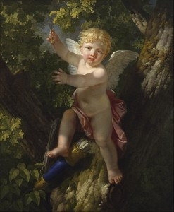 Cupid in a Tree, by Jean-Jacque-François le Barbier. Public domain