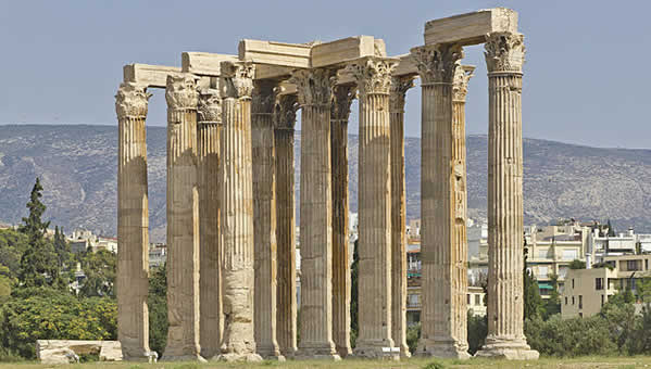 """""""Attica 06-13 Athens 25 Olympian Zeus Temple"""" by A.Savin. Licensed under CC BY-SA 3.0 via Wikimedia Commons."""