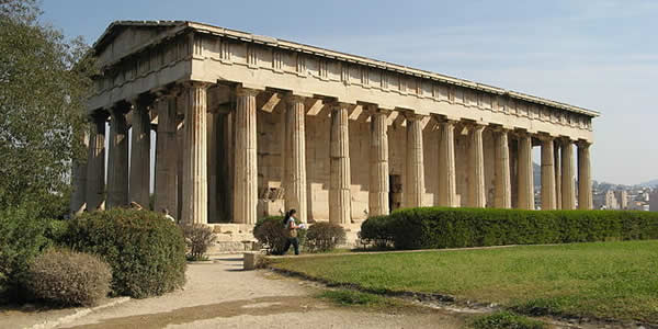"""""""Hephaistos Temple"""" by Storeye - Own workLicensed under Public Domain via Wikimedia Commons."""