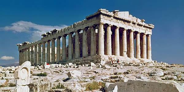 """""""The Parthenon in Athens"""" by Steve Swayne - File:O Partenon de Atenas.jpg, originally posted to Flickr as The Parthenon AthensLicensed under CC BY 2.0 via Wikimedia Commons."""