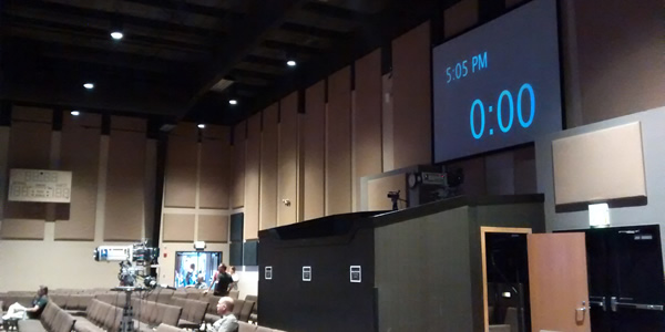 Sermon countdown clock / Annika Mongan