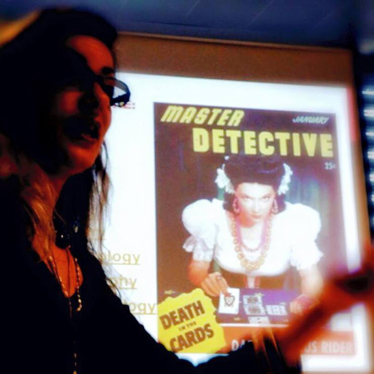 Lecturing on the tarot (Photo: Manna Hojda)