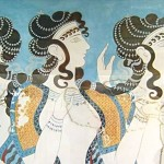 """Knossos fresco women"" by cavorite - http://www.flickr.com/photos/cavorite/98591365/in/set-1011009/ Licensed under CC BY-SA 2.0 via Wikimedia Commons."