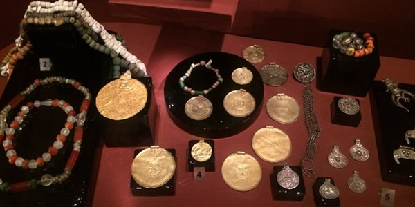 Viking Age jewelry from Birka, at the Swedish HIstory Museum / Cara Freyasdaughter