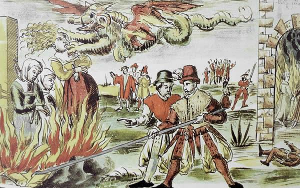 Johann Jacob Wick, Witch burning, Nuremberg, 1555