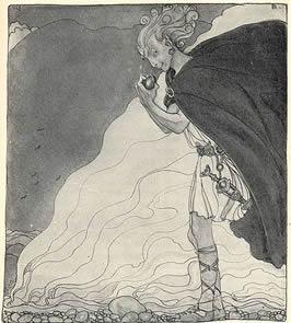 """Loki finds Gullveigs Heart - John Bauer"" by John Bauer - http://runeberg.org/gudasaga/. Licensed under Public Domain via Commons."