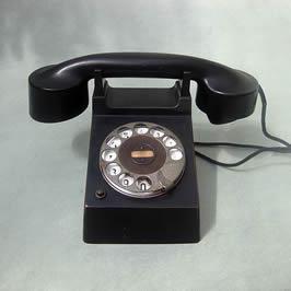 a black telephone