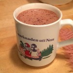 A cup of hot cocoa in a mug from my grandfather's hometown / Cara Freyasdaughter