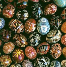 Ukrainian Easter eggs by Carl Fleischhauer / Public Domain via Wikimedia Commons