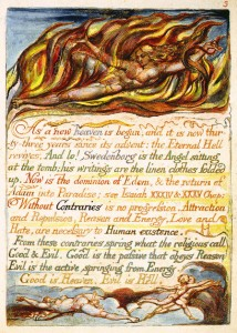 A plate from William Blake's The Marriage of Heaven and Hell.