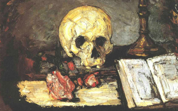 """Pyramid of Skulls"" by Paul Cézanne. From WikiMedia."