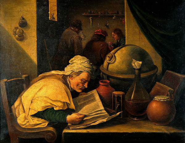 """An Alchemist in His Laboratory"" by David Teniers the Younger, from Wikimedia."