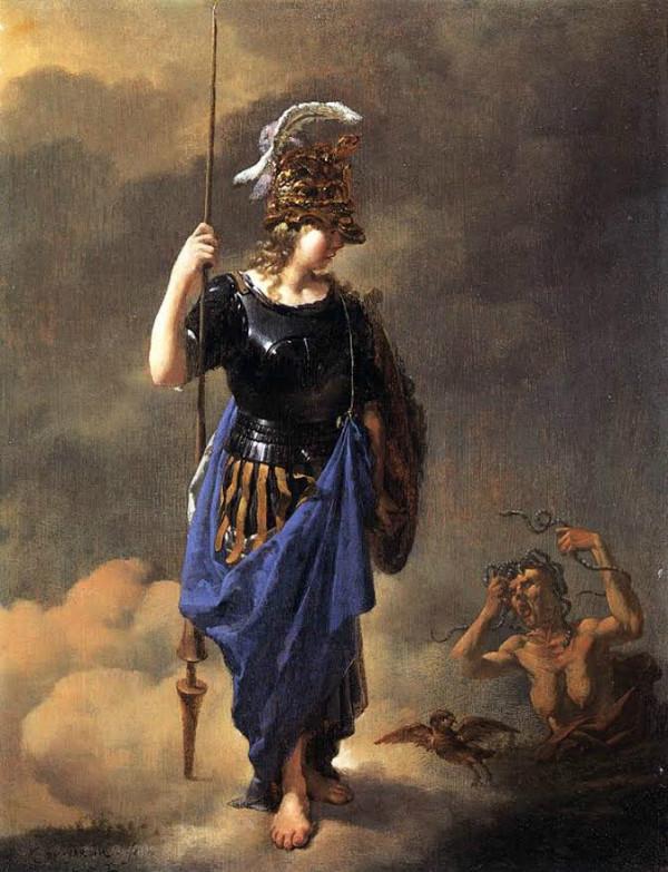 """Pallas Athene Visits Invidia"" by Karel Dujardin.  From WikiMedia."