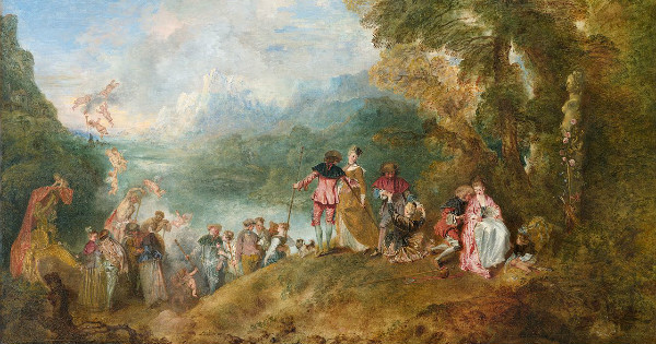 """The Embarkation for Cythera"" by Jean-Antoine Watteau.  From WikiMedia."